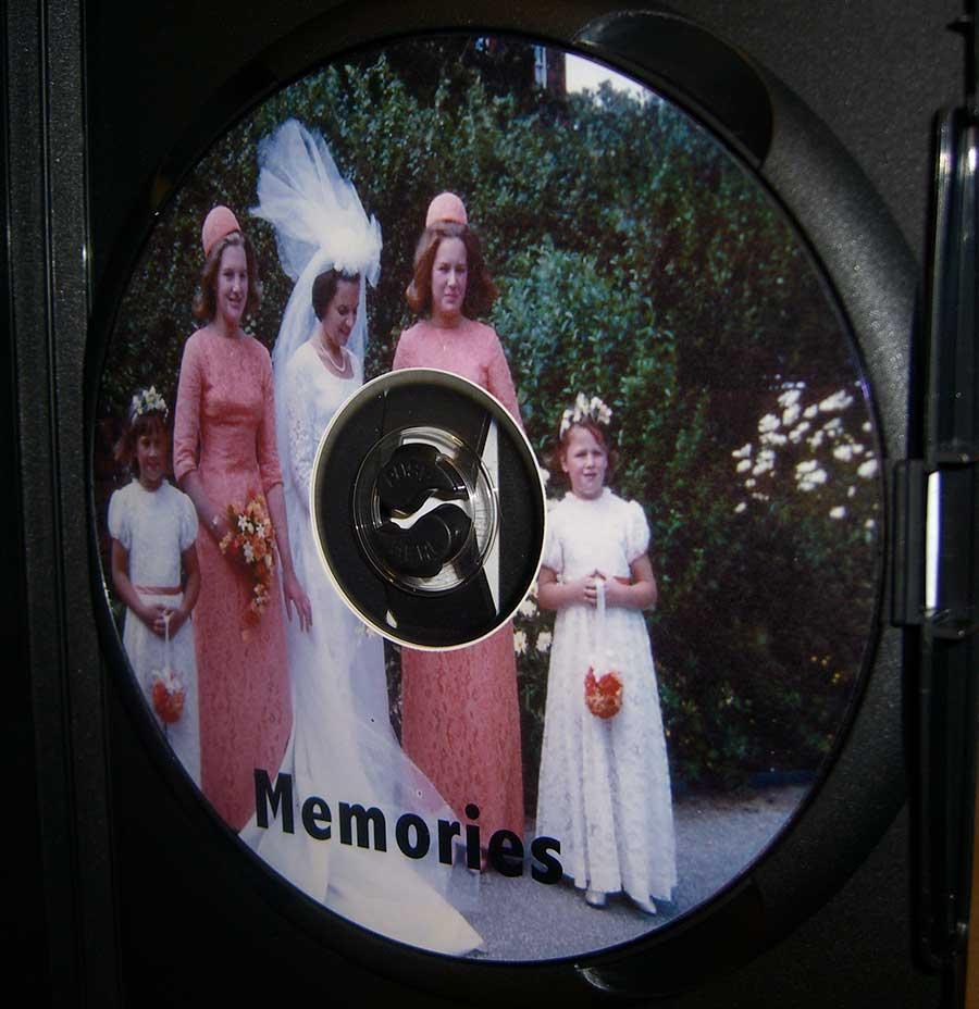 DVD face printing